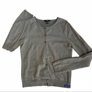 JACOB heathered grey buttoned cardigan Style No. A033505